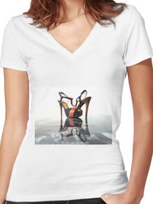high heels universe Women's Fitted V-Neck T-Shirt