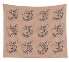 Multicat Pattern Wall Tapestry
