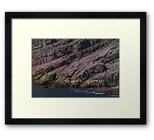 Colours and Textures at Bottom of Cliff Face, Bay Bulls, NL, Canada Framed Print