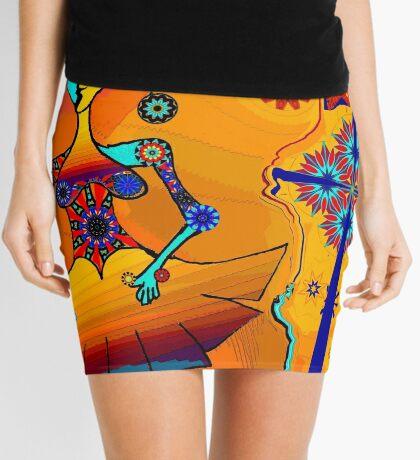 Girl With Kaleidoscope Eyes Mini Skirt