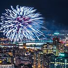 Montreal Fireworks by Michael Vesia
