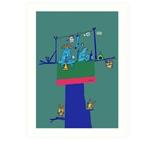 Sampath in the Guava Tree Art Print