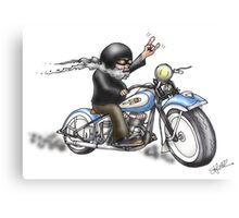 HARKEY STYLE BIKER Canvas Print
