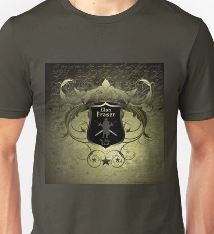 Clan Fraser shield with crossed swords Unisex T-Shirt