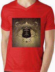 Clan Fraser shield with crossed swords Mens V-Neck T-Shirt