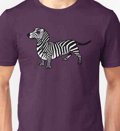 ZEBRA SAUSAGE DOG Unisex T-Shirt