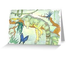 Rainforest Reptile Greeting Card