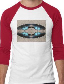 Iridescent Blue Dance Men's Baseball ¾ T-Shirt