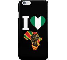 I Love Africa Map Black Power Nigeria Flag T-Shirt iPhone Case/Skin