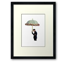 moriarty with umbrella Framed Print