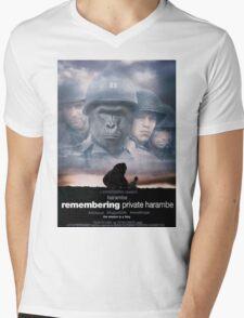 Saving Private Harambe  Mens V-Neck T-Shirt