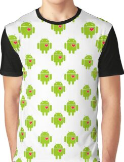 Android Robot Love Graphic T-Shirt