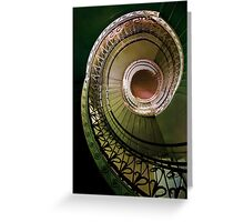 Spirals in brown and green Greeting Card