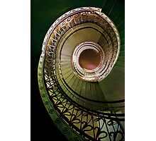 Spirals in brown and green Photographic Print