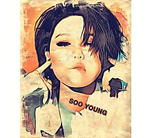 SooYoung, SNSD(소녀시대), Kpop star photo art Photographic Print