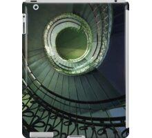 Spirals in blue and green iPad Case/Skin