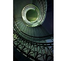 Spirals in blue and green Photographic Print