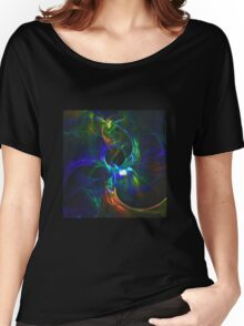 Abstract generated colorful shiny pattern graphic background Women's Relaxed Fit T-Shirt