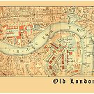 LONDON Antique Map by Greenbaby