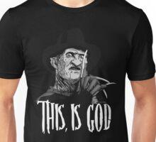 Freddy Krueger - This, is god - Black & White Unisex T-Shirt