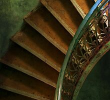 Spiral brown stairs by JBlaminsky