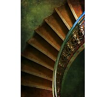 Spiral brown stairs Photographic Print