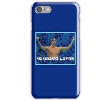 Michael Phelps Celebration 16 Years Olympian iPhone Case/Skin