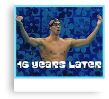 Michael Phelps Celebration 16 Years Olympian Canvas Print