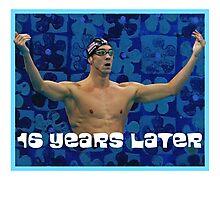 Michael Phelps Celebration 16 Years Olympian Photographic Print