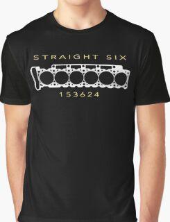 6 Cylinder V6 Motor Straight-Six Inline-Six Engine Graphic T-Shirt