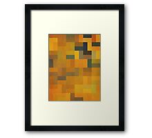 Abstraction #090 Orange Red Gold Rectangles II Framed Print