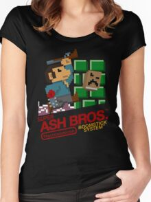 Super Ash Bros. (T-shirt, Etc.) Women's Fitted Scoop T-Shirt