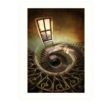 Spiral stairs and the window Art Print