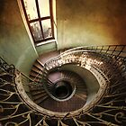 Spiral stairs and the window by JBlaminsky