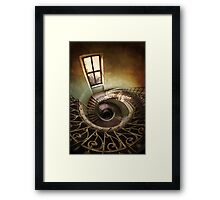 Spiral stairs and the window Framed Print