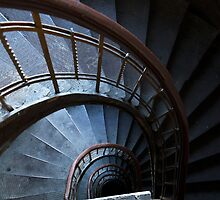 Spirals in blue by JBlaminsky