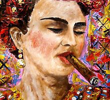 Frida and her Habanos by amoxes