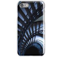 Half spiral stairs in blue iPhone Case/Skin