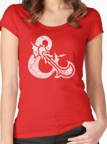 Dungeons&Dragons white ampersend Women's Fitted Scoop T-Shirt