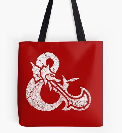 Dungeons&Dragons white ampersend Tote Bag