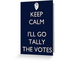 Tally the Votes - Survivor/Probst Greeting Card