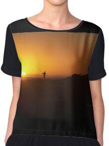 Fisherman at Sunrise Chiffon Top
