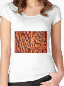 Peeling Paint abstract Women's Fitted Scoop T-Shirt