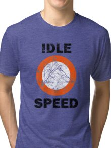 Idle Speed Nautical Signage Tri-blend T-Shirt