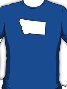 Montana State Outline T-Shirt