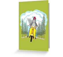 Squirrel on a Scooter Greeting Card