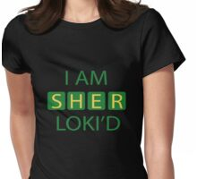 I AM SHER-LOKI'D [Green] Womens Fitted T-Shirt
