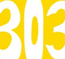 Hand Drawn Colorado Flag 303 Area Code Sticker