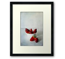 Red and sweet Framed Print