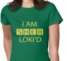 I AM SHER-LOKI'D [Yellow] Womens Fitted T-Shirt